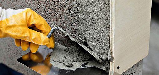 Beton repareren, betonrot herstellen, beton maken