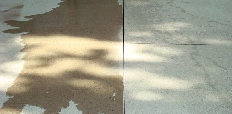beton sealers onbehandeld en behandeld