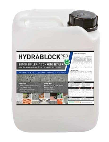 Hydrablock Pro, beton impregneermiddel, beton impregneer, beton sealer, beton waterdicht maken